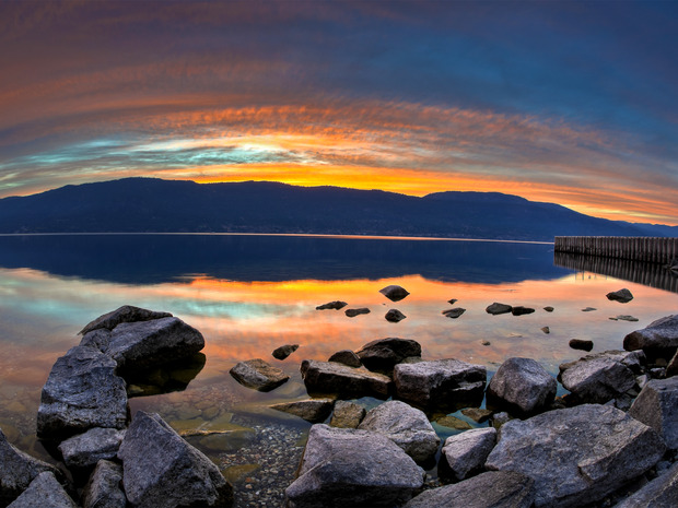 Sunset On Lake Okanagan