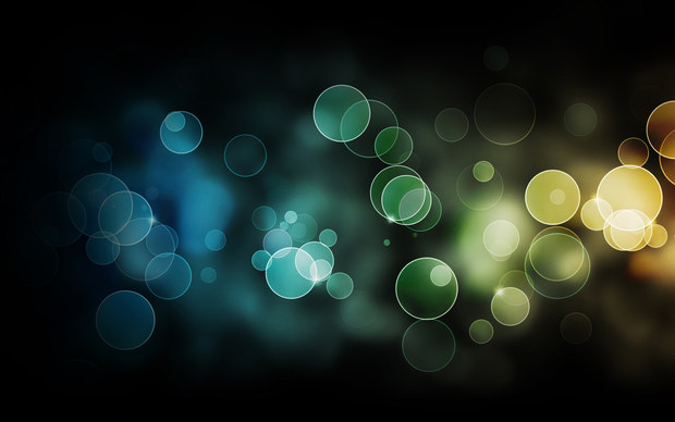 Abstract Colour Background Bokeh Left