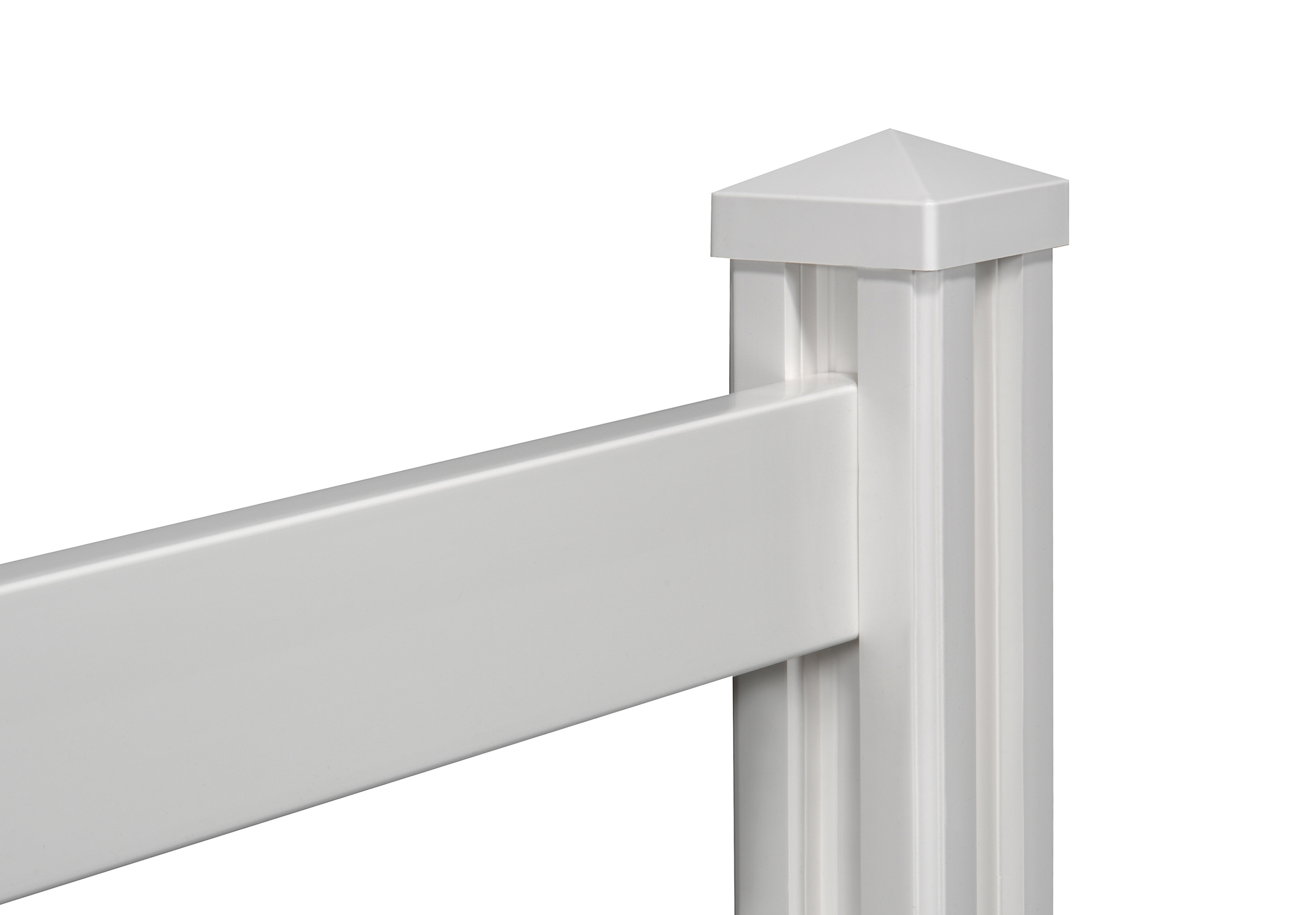 Rail vinyl fence with posts wambam
