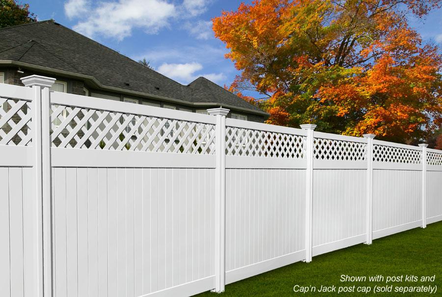 Vinyl fence fencing picket privacy