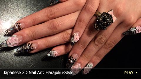 Japanese 3D Nail Art: Harajuku-Style