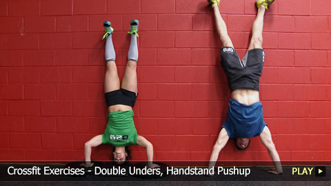 CrossFit Workout: Exercises - Double Unders, Handstand Pushup