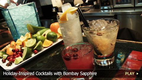 Holiday-Inspired Cocktails with Bombay Sapphire