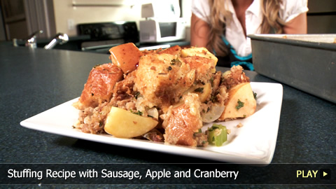 Stuffing Recipe with Sausage, Apple and Cranberry