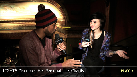 LIGHTS Discusses Her Personal Life, Charity