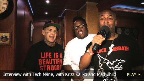 Interview with Tech N9ne, with Krizz Kaliko and Mad Child from Swollen Members