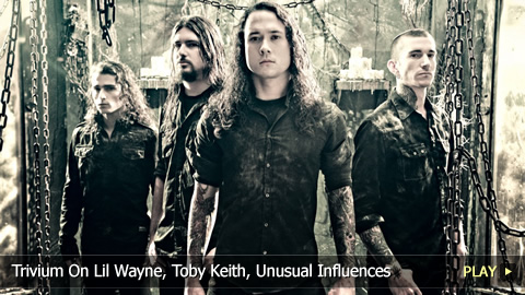 Paolo from Trivium On Lil Wayne, Toby Keith, Unusual Influences