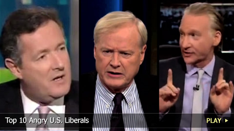 Top 10 Angry U.S. Liberals