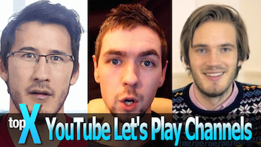 Top 10 Let's Play YouTube Channels -TopX Ep. 2