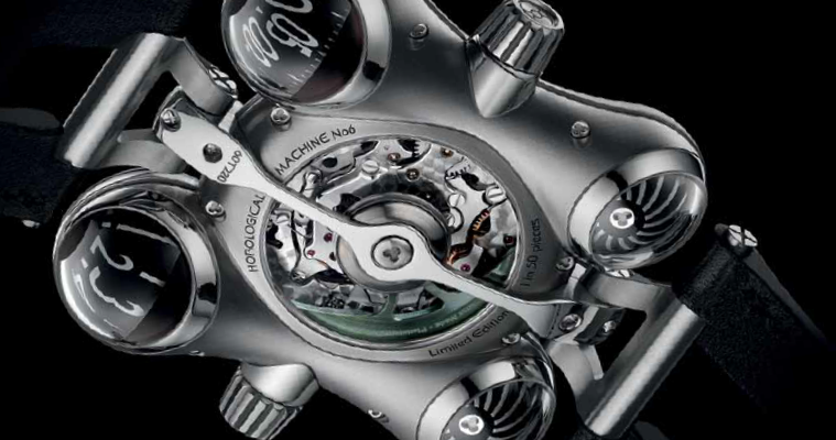 The MB&F HM6 Space Pirate protects its flying tourbillon with a sapphire sphere and a wink –and conquers the universe.