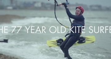 Check Out This is 77-year-old Kitesurfer