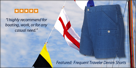 Frequent Traveler Denim Shorts