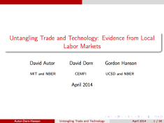 Untangling Trade and Technology: Evidence from Local Labor Markets