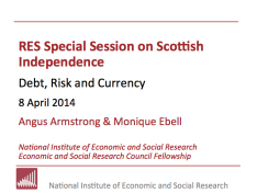 RES Special Session on Scottish Independence – Debt, Risk and Currency