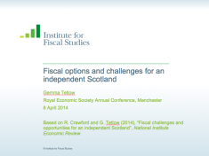 Fiscal options and challenges for an independent Scotland