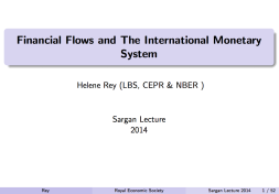 Financial Flows and The International Monetary System