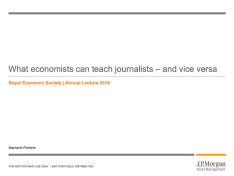 What economists can teach journalists = and vice versa
