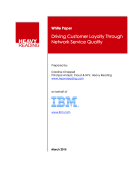 Driving Customer Loyalty Through Network Service Quality