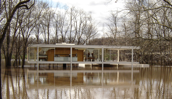 Mies Designed Farnsworth House Appears Safe Near Rising Fox River | WBEZ