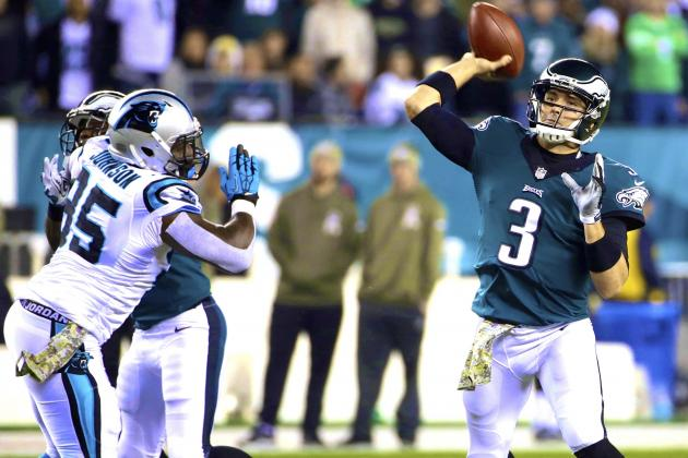 Eagles Fall Out of First Place After Loss at Carolina