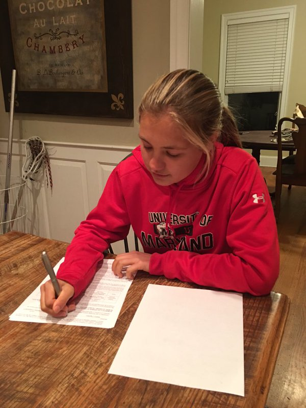 Easton's Kathryn Gearhart Signs with Maryland