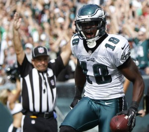 With Jeremy Maclin, the Eagles averaged nearly seven more points per game in 2014 than this season. (courtesy eagledelphia.com)