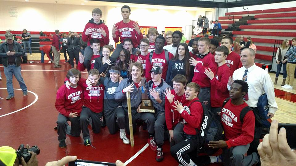2016 State Champs (Photo Courtesy: Smyrna Wrestling)