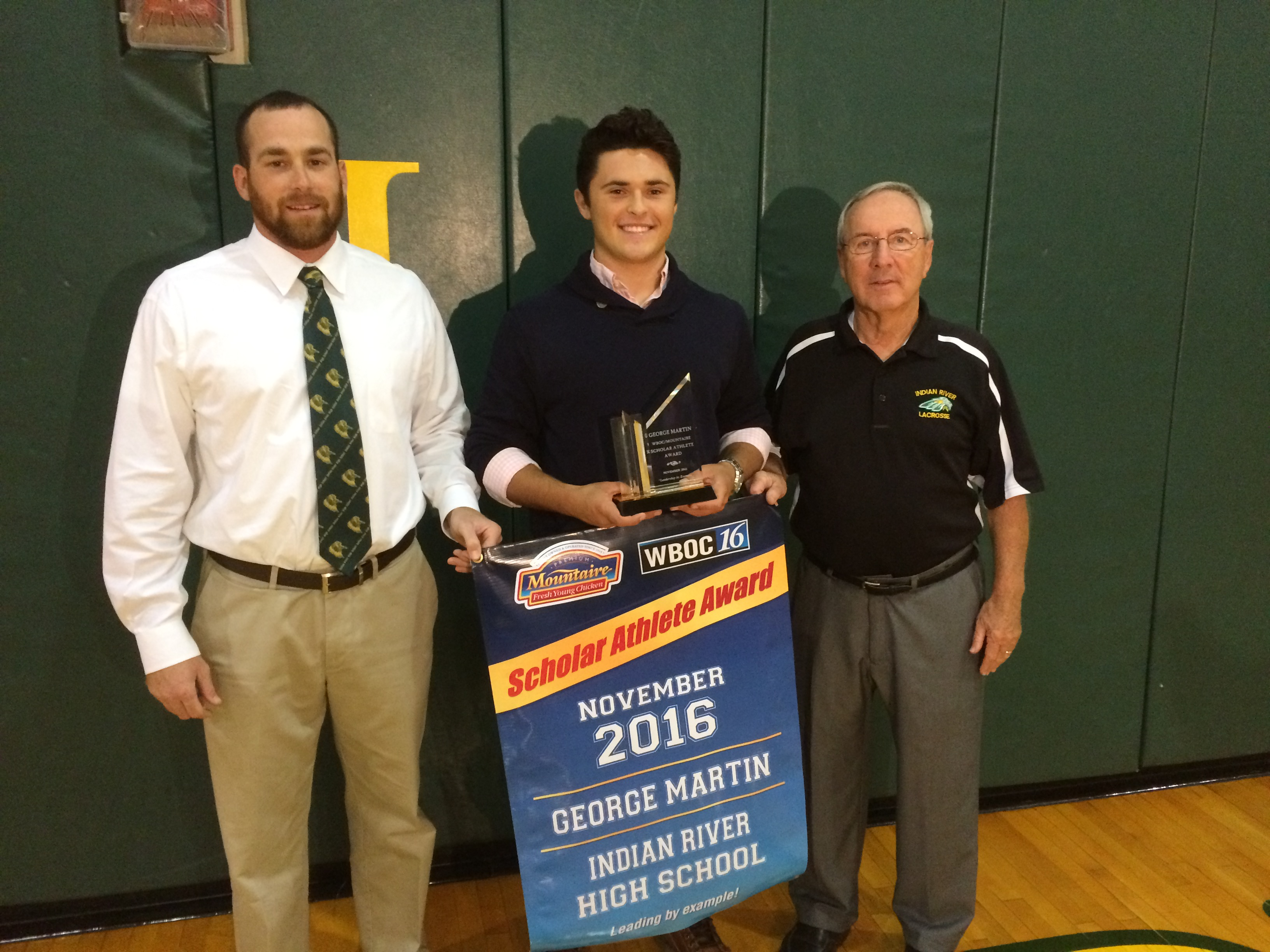WBOC/Mountaire Farms November Scholar Athlete of the Month – George Martin, Indian River