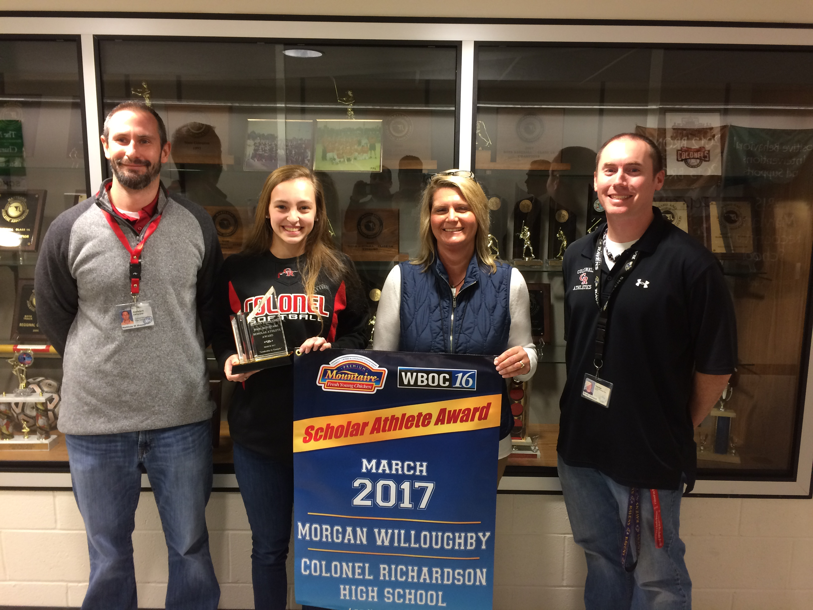 WBOC Mountaire Farms March Scholar Athlete of the Month – Morgan Willoughby  of Colonel Richardson