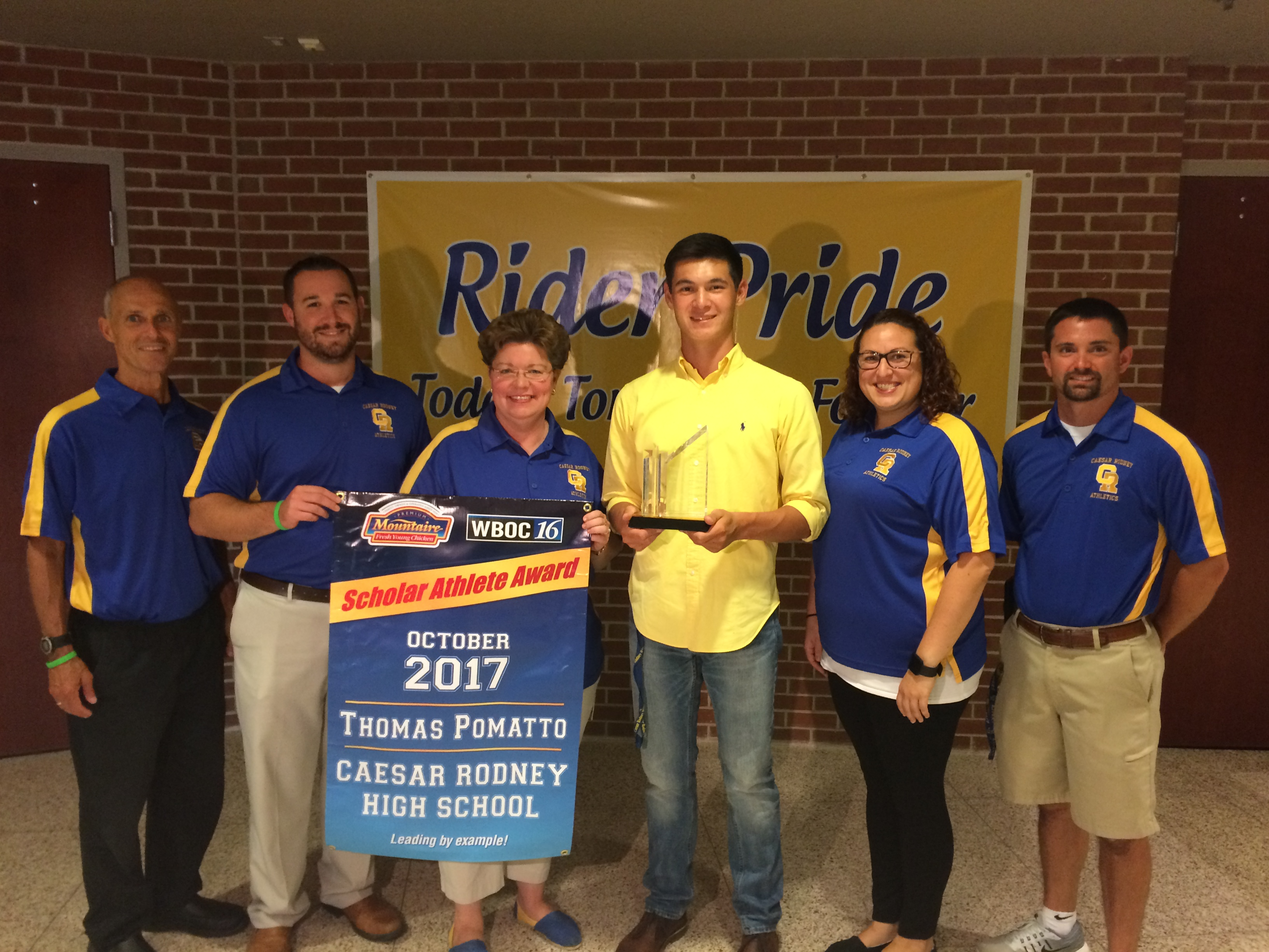 WBOC Mountaire Farms October Scholar Athlete of the Month – Tommy Pomatto of Caesar Rodney