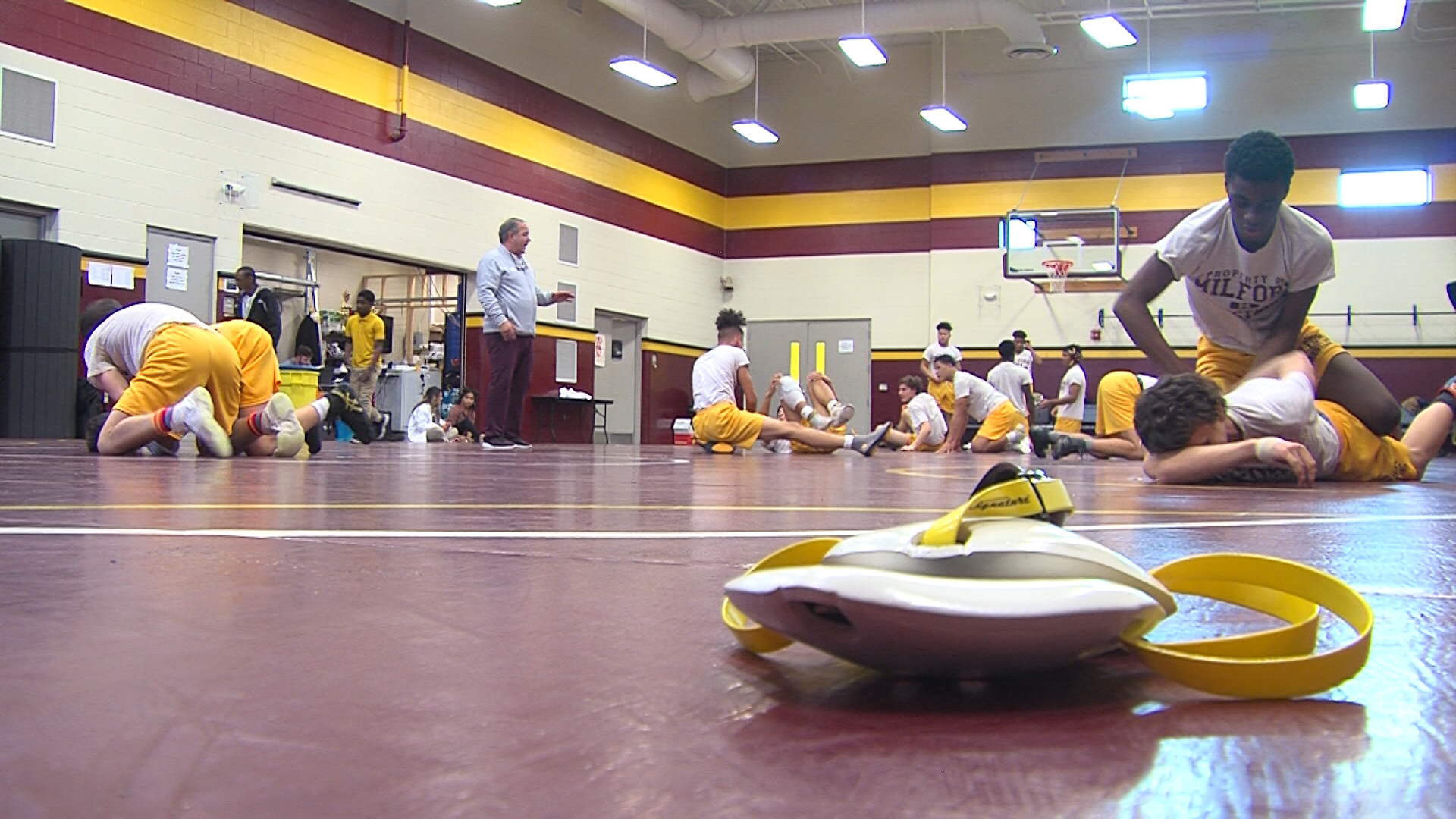A look at the dominant Milford Bucs Wrestling team and their Coach….Don Parsley