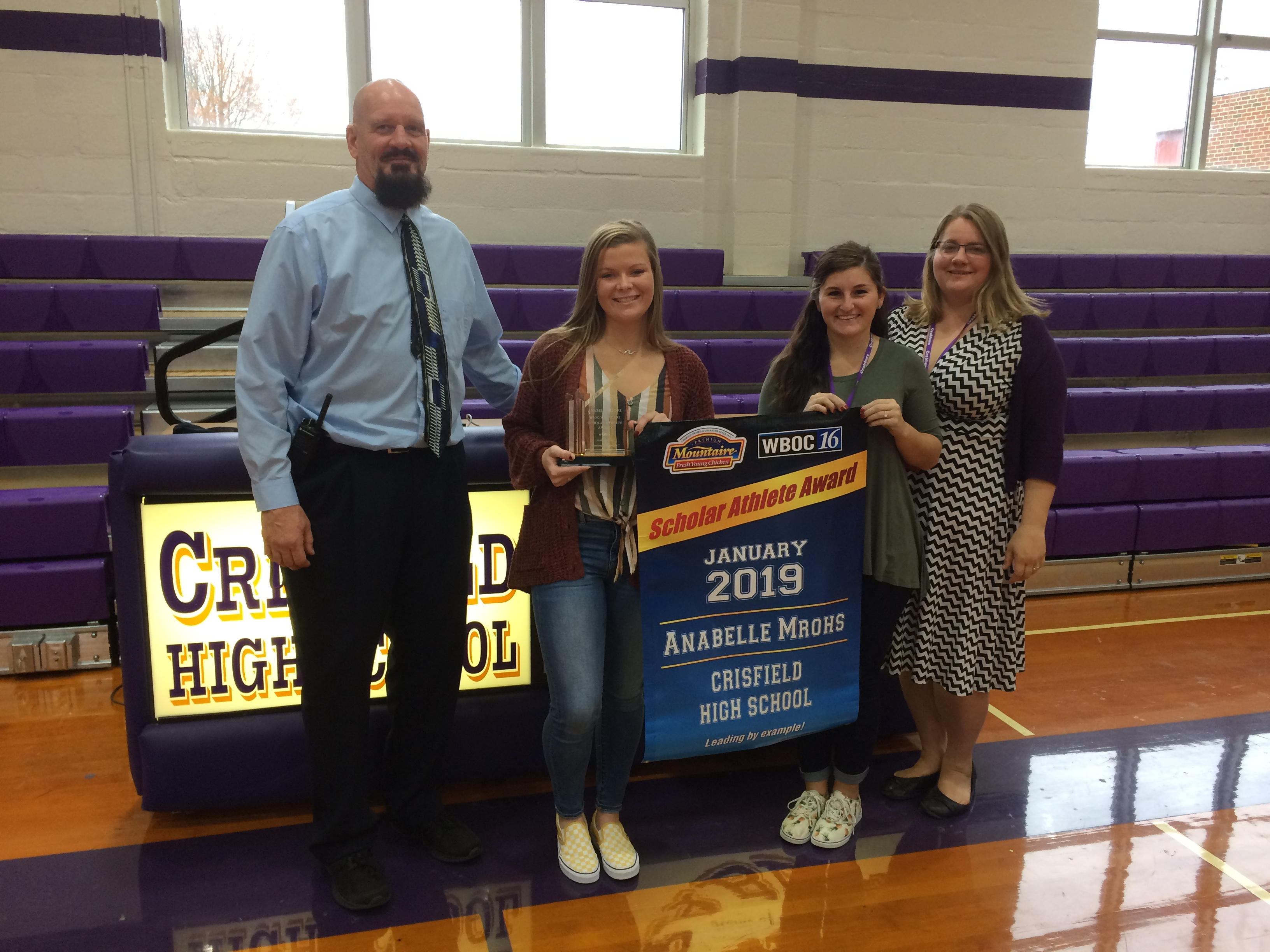 WBOC Mountaire Farms January Scholar Athlete of The Month – Crisfield's Anabelle Mrohs