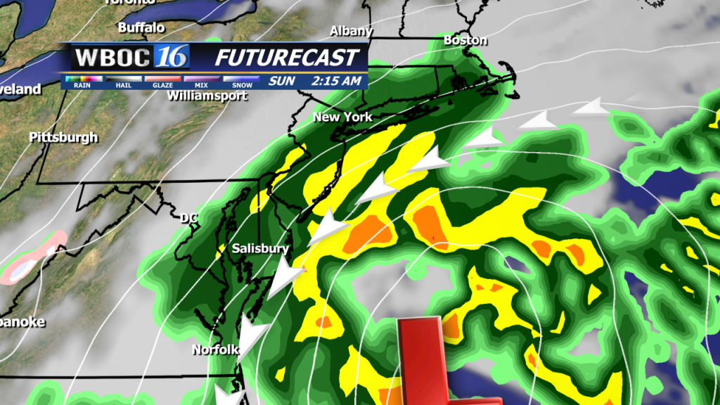 Our RPM model guidance shows a strong low-pressure system off the coast by late Saturday.