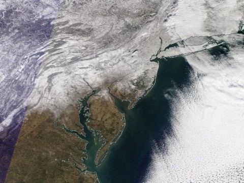 From the NASA Terra Satellite around Noon Wednesday.
