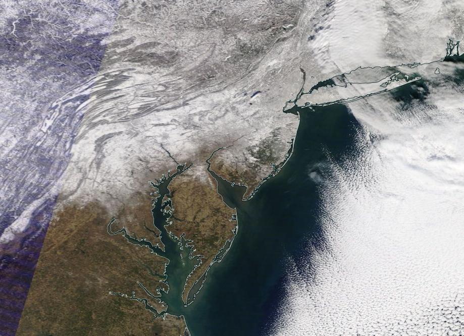 From the NASA Terra Satellite around Noon Wednesday.