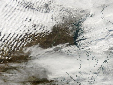 View of Delmarva from the NASA Terra Satellite Thursday afternoon.
