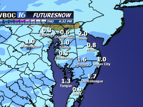 This is raw model guidance but there is the possibility of a heavy dusting of snow late Wed. Evening.