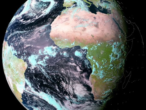 Meteosat full disk image. Taken today.