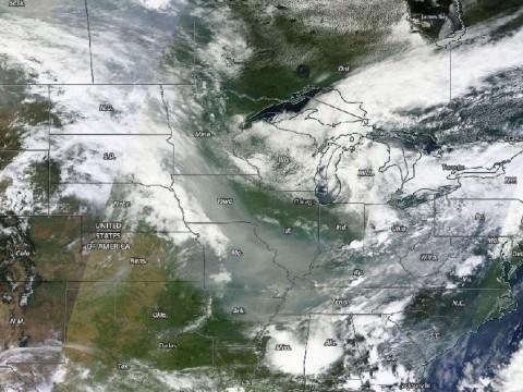 From NASA Terra Satellite.