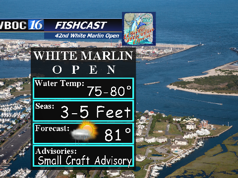 Tomorrow's forecast for the White Marlin Open.