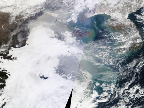 From the NASA Terra satellite.