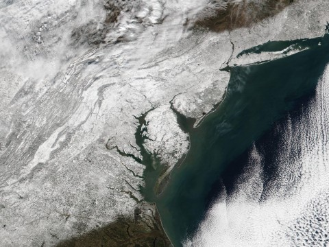 This image is from the NASA Suomi Satellite and shows the deep snow over the NE U.S. It was taken Sunday afternoon.