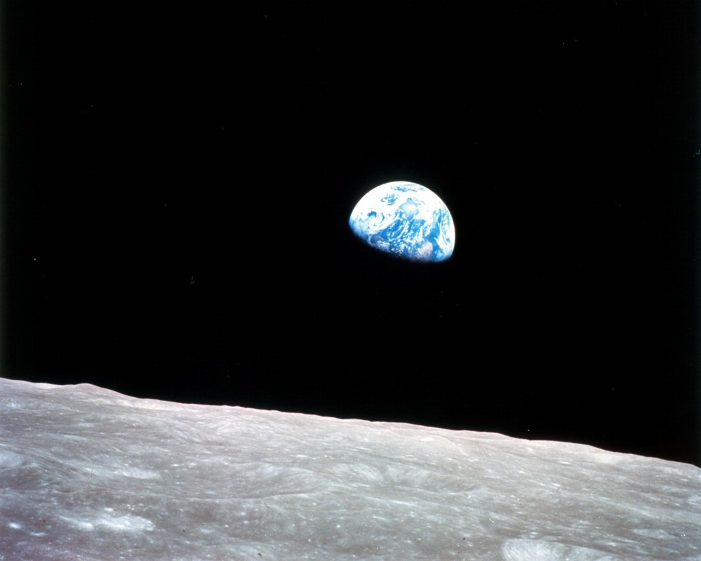 Earthrise from Apollo 8 December 24, 1968.