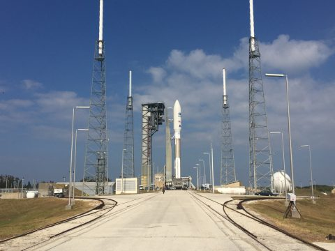 WBOC Chief Metr. Dan Satterfield was at Pad 41 this morning as the Atlas booster and the GOES R satellite rolled onto the pad.