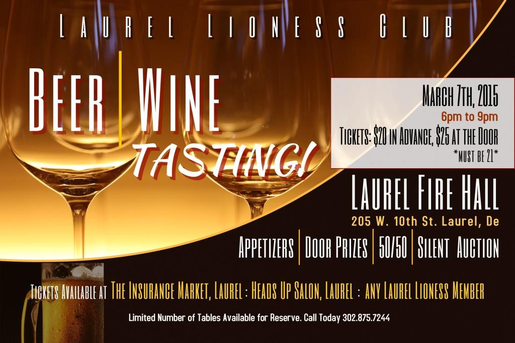 Beer and Wine Tasting – Laurel Lioness Club