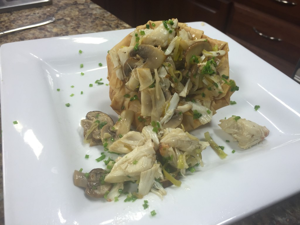 Sauteed Lump Crab, Mushrooms and Leeks with Pete McMahon of Rusty Rudder