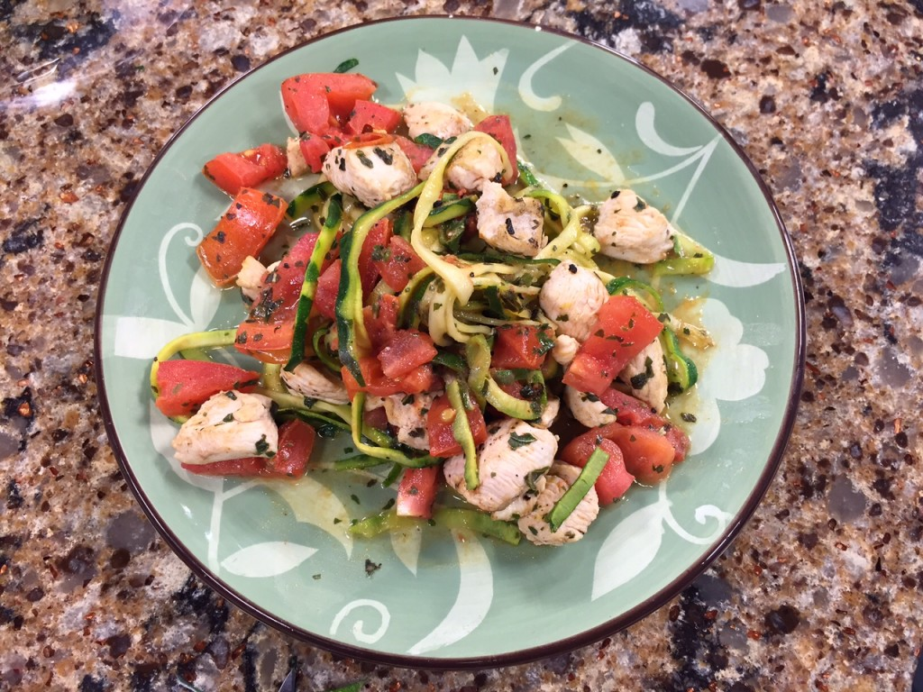 Chicken Zucchini Pasta – Thursday, April 23, 2015