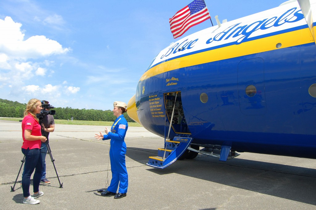 Flying with First Female Blue Angels Pilot, Capt. Katie Higgins