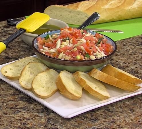 Crab Bruschetta with Chef Thomas O'Neil from Suicide Bridge Restaurant
