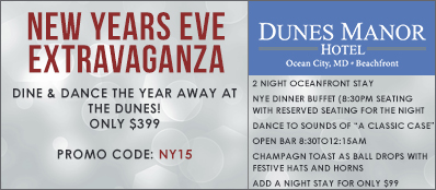 Dunes Manor Hotel Promo Code: New Years Eve Extravaganza